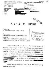 Auto Audiencia Navarra 201 entrega vivienda cancelar deuda
