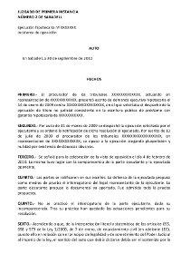 Auto primera instancia 2 Sabadell inconstitucionalidad ejecuciones hipotecarias