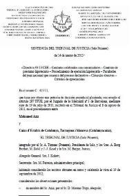 Sentencia Europa Hipotecas 2013